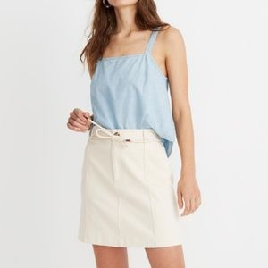 Madewell Capital A-Line Mini Skirt
